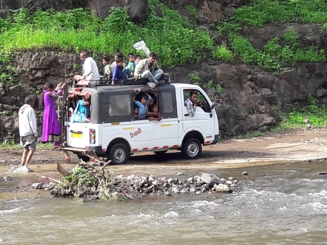 Followed local way of transportation with kumar sanu's 90's song....enjoyed