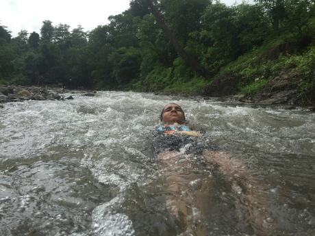 enjoying bathing at kokam